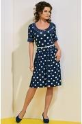 Платье в горошек TopDesign A4 077