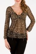 Полупрозрачная блузка на каждый день | Б667-1025