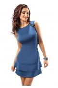 Синее платье без рукавов Enny 17010