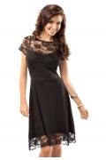 Черное платье Enny 17027