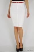Белая хлопковая юбка Emka Fashion 466-maisa