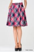 Клетчатая юбка-колокол Emka Fashion 322-salamey
