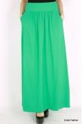 Длинная летняя юбка зеленая юбка цвета Emka Fashion 309-laola