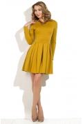 Короткое платье горчичного цвета Donna Saggia DSP-119-5t