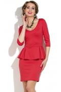 Короткое платье с баской Donna Saggia DSP-141-30t