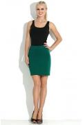 Короткая юбка зеленого цвета Donna Saggia DSU-17-69