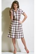 Клетчатое платье TopDesign A4 048