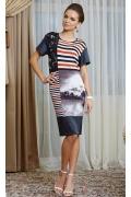 Платье с принтом TopDesign Premium PA4 44