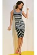 Полосатое летнее платье TopDesign A4 083