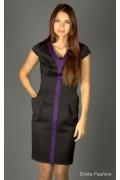 Стильное черное платье Emka Fashion | 179-rubi