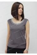 Блузка цвета какао Sunwear N01-2