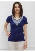 Темно-синяя блузка Sunwear N59-3