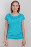 Бирюзовая блузка Sunwear N35-2