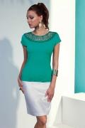 Блузка зеленого цвета Sunwear N49-2