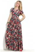 Длинное платье в цветочек Donna Saggia DSP-147-80t