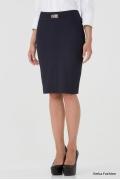 Темно-синяя юбка-карандаш Emka Fashion 442-tasmaniya