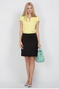 Прямая юбка черного цвета Emka Fashion 494-brianna