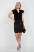 Короткая офисная юбка Emka Fashion 488-kapriz