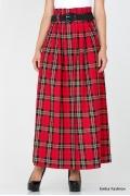 Длинная юбка в клетку Emka Fashion 286-noella