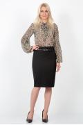 Офисная юбка черного цвета Emka Fashion 438-brianna