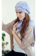Комплект (берет и шарф) сиреневого цвета Landre Николь