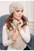 Комплект (шапка+шарф) бежевого цвета Landre Тамара