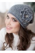 Женская шапка серого цвета Landre Габи