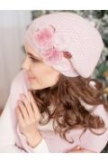 Комплект (берет и шарф) розового цвета Landre Шармель
