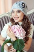 Светло-серая женская шапочка Landre Дебора