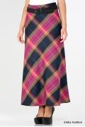 Длинная юбка в розовую клетку Emka Fashion 314-sharmel