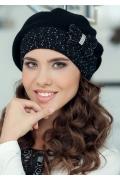 Чёрная женская шапка Landre София
