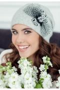 Женская шапка светло-серого цвета Landre Урсула