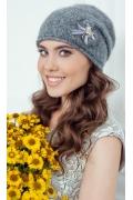 Женская шапка серого цвета Landre Верона