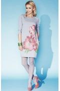 Осенне платье светло-серого цвета Zaps Gillian