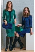 Офисное платье TopDesign B4 028