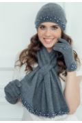Шикарный комплект (шапка+шарф+варежки) Landre Лариса