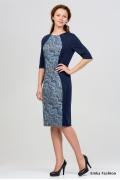 Синее платье Emka Fashion 1016-prada