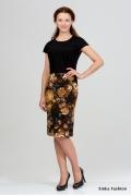 Двухцветное платье Emka Fashion 1013-luisa