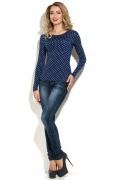 Синяя блузка в горошек Donna Saggia DSB-27-17t