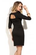 Чёрное короткое платье Donna Saggia DSP-173-4t