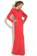 Длинное коралловое платье Donna Saggia DSP-179-30t