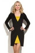 Эффектное черно-жёлтое платье Donna Saggia DSP-172-54t