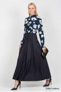 Макси-юбка тёмно-синего цвета Emka Fashion 427-sandra