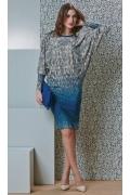Платье с рукавом летучая мышь Top Design B4 093