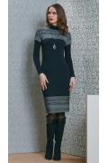 Осенне-зимнее платье Top Design B4 108