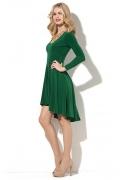 Зелёное платье с асимметричным низом Donna Saggia DSP-185-44t
