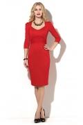 Платье-футляр красного цвета Donna Saggia DSP-181-29t