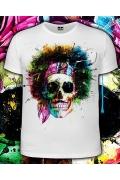 Мужская футболка Hippy Skull (Светится в темноте и уф.)