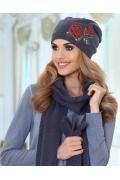 Женская шапочка со стразами Kamea Magda