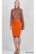 Юбка оранжевого цвета Emka Fashion 442-mishella